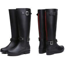 Women's Rain Boots Zipper Knee High Waterproof British Adult Rain High Boots New