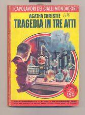 CAPOLAVORI GIALLI MONDADORI nr. 187 *A. Christie* 1961