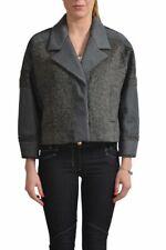 Viktor & Rolf Women's Wool Gray Three Button Cropped Coat Size XS S M L