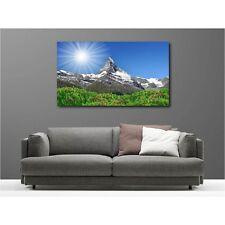 Cuadro tela decoración rectangular montaña soleada 71181712