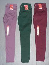 NWT Womens Junior Arizona Sateen Skinny Pants - U Pick Color + Size - MSRP $40