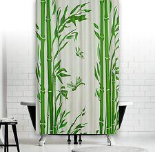 Rideau de douche Blanc Vert Bambou inclus qualitätsringe ! PEVA 120x200 180x180