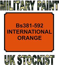 INTERNATIONAL ORANGE MILITARY PAINT METAL STEEL HEAT RESISTANT ENGINE  VEHICLE