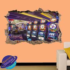Fab casino à las vegas 3D smashed autocollant mural chambre décoration autocollant murale YS6