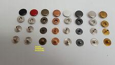 Bottoni a pressione per torchietto Serie FF DIAM.TESTA MM.11 in OTTONE(pezzi100)