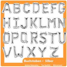 80 cm Folienballon / Luftballon Buchstaben A - Z Silber Alphabet Name Geburtstag