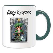Cadeau personnalisé nuit elf druid tasse argent boîte cup world warcraft wow alliance
