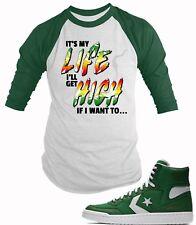 BB Tee Shirt to Match Converse Fast Break Hi Think 16  Mens Graphic Baseball Tee