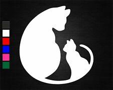 CAT & KITTEN VINYL DECAL STICKER CAR/VAN/WALL/DOOR/LAPTOP/TABLET/WINDOW