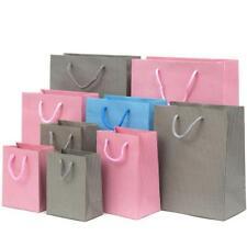 Luxe Rayures Papier Cadeau/Sac avec poignées de corde (Diverses Tailles)