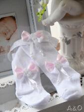 Baby Set Strumpfhose & Stirnband Weiß 48 50 56 62 68 74 80 86-122 Haarband Taufe
