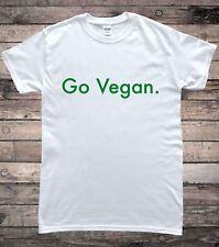 Go Vegan Slogan Mens T-Shirt