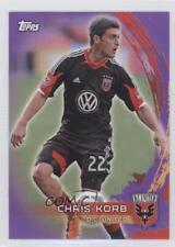 2014 Topps MLS Purple #10 Chris Korb DC United Soccer Card