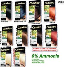 Professional Delia Cameleo Pro Green Permanent Hair Color Cream 0% Ammonia