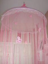 Princess Bed Canopy Net Mesh Hoop Glitter Butterflies Class Reading Nook Tent