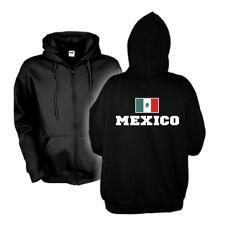 Kapuzenjacke MEXICO Flagshirt Zip Hoodie Fan Sweatjacke S-6XL (WMS02-38e)
