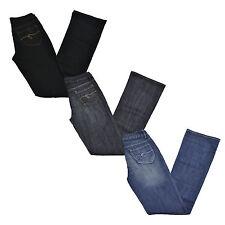 Guess Belmont Flare Jeans Womens Stonewashed Blue Black Denim New W204