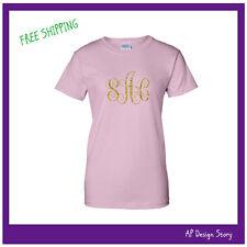 Monogrammed T-shirt / Glitter  / Missy / T-shirt / FREE SHIPPING