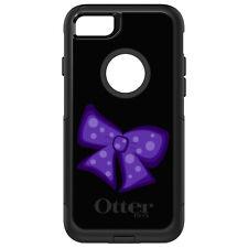 OtterBox Commuter for iPhone 5C 5S SE 6 6S 7 PLUS Purple Black Bow Ribbon