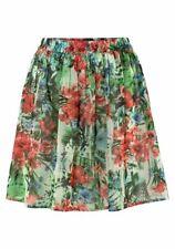 ANISTON Mujer chiffonrock Falda minifalda Estampado Flores Multicolor 443503