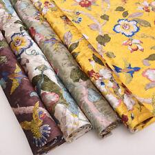 1M Print Velvet Fabric Pillow Cushion Case Upholstery Material Cloth Flower Bird