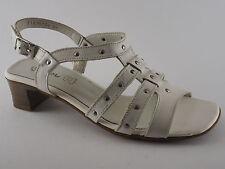 PIAZZA Damen Schuhe Pumps 38 1/2 39 1/2 Sandaletten Leder Weiß NEU