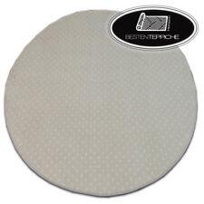Rund Langlebig Modern Teppichboden AKTUA beige große Größen! Teppiche nach Maß
