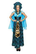 donna egiziana Costume Costume Donna donna Carnevale Vestito nero blu