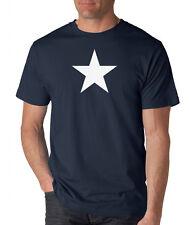 WHITE STAR Retro geek SKATER Music converse Rock PUNK military dc shoes T-shirt