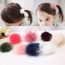Kids Baby Elastic Hairband Hair Clip Pom Pom Fur Ball Hair Accessories uk