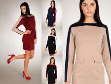 Stylish Women's Dress with Pocket Tunic Style Buttons Size 8-14 FA63