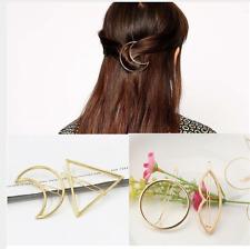 Haarspange gold silber Haarklammer edel Haar Geometrie neu Damen Style Dreieck