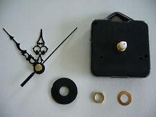 CLOCK MOVEMENT QUARTZ SHORT SPINDLE 60mm BLACK HANDS