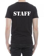 t-shirt nera donna uomo scritta staff  bar negozio divisa personalizzato