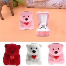 Velvet Cute Bear Shaped Jewllery Gift Box for Rings/Small Earrings Pendant ONE