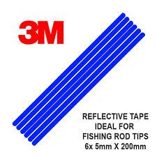 3M Scotchlite Reflektierend Ruten Spitze Band, 6 Streifen 5mm x 200mm Blau)