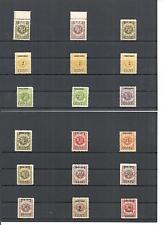 Memel. Litauen 1923, Einzelmarken aus MiNrn: 140 - 229 *, ungebraucht mit Falz *