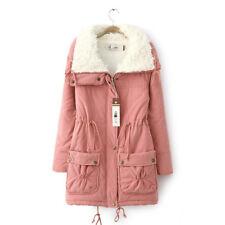 Femme Doudoune Blouson Manteau Longue Cachemire Faux Jacket Hiver Chaude Cadeau