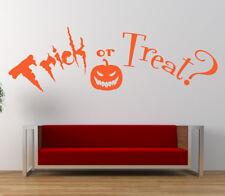 Trick or Treat cita, Vinilo Arte de Pared Adhesivo Calcomanía Mural Decoración Para Halloween, Hogar,