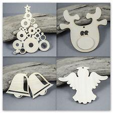 Christmas Tree Decoration RUDOLPH Bells MDF Birch Plywood Laser Cut Wooden Shape