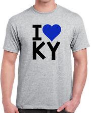 113 I Heart Ky mens T-shirt bluegrass pride kentucky love cool wildcats home new