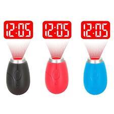 Digital Time Projection Clock Mini LED Watch Night Light Projector Flashlight