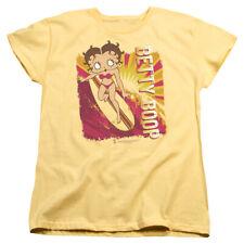 Betty Boop Sunset Surf Womens Short Sleeve Shirt