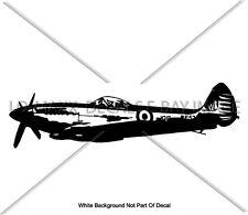 Supermarine Spitfire Mk XVIE WW 2 British Fighter Aircraft Die Cut Vinyl Decal