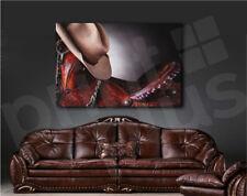 Horse Saddle Cowboy Hat Close Up Art Canvas Poster Fine Print Wall Decor