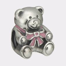 Genuine Pandora #791124EN24 It's a Girl Bear Bead Love Baby Valentine Charm