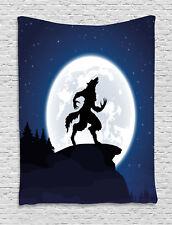 Wolf Tapestry Halloween Theme Design Print Wall Hanging Decor
