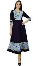 Phagun Rayon Kurta Women Ethnic Bollywood Designer Floral Kurti Top Tunic Dress