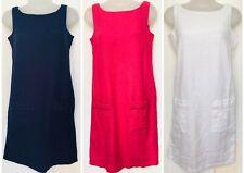Ladies Linen Dress Boat Neck Size 6-24  NEW  Ex Highstreet  Store RRP £28