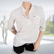 Bluse Damen elegant mit Stehkragen Gr 38 bis 46 V-Ausschnitt